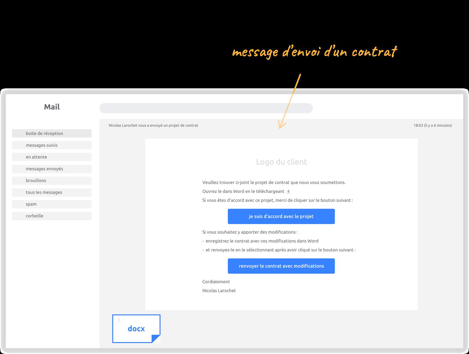 Capture d'écran - Mail